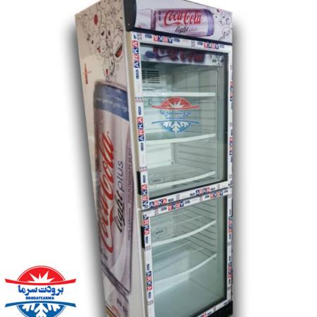 یخچال دو درب ۷۰ سانتی بدنه گالوانیزه