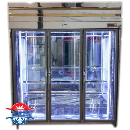 یخچال قصابی ویترینی استیل دارای آویز لاشه