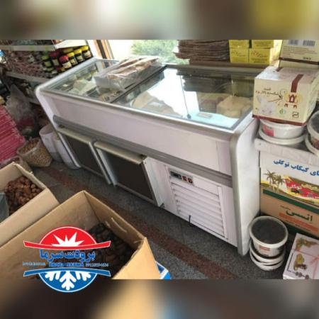 فریزر جزیره ای ارسالی مشتری از شیراز