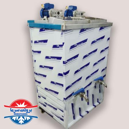 دستگاه شیر سرد کن دو مخزن ۳۰۰ لیتری