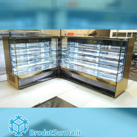 یخچال و ویترین خشک مناسب قنادی و شرینی پزی