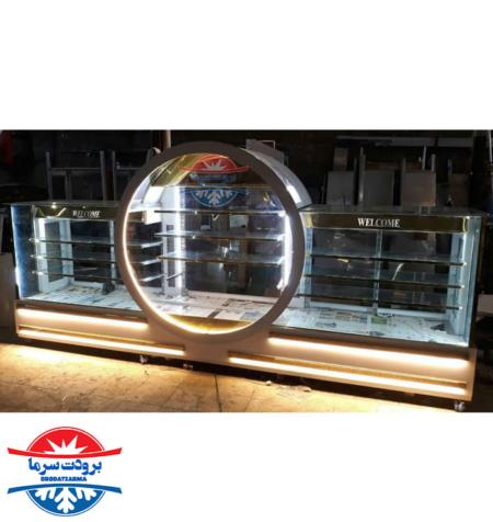 یخچال قنادی ویترینی با طراحی خاص و بدنه استیل