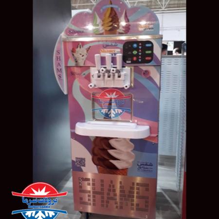 دستگاه بستنی تک فاز سه قیفه دو رنگ سناتور