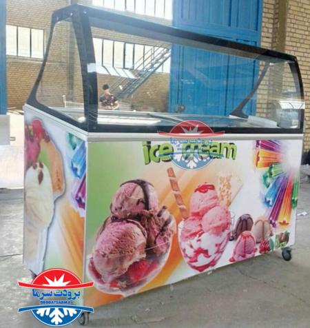 تاپینگ بستنی فانتزی 450 لیتر 9 کاسه بن ماری