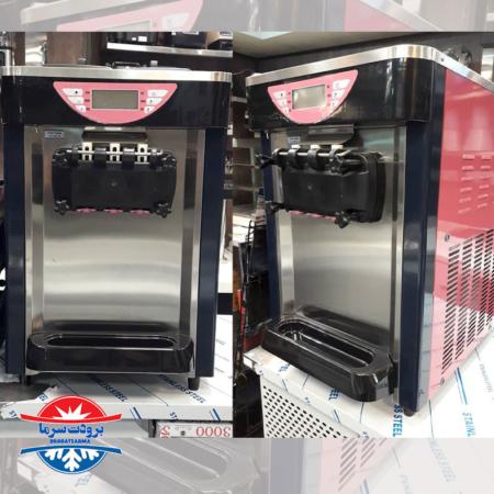 دستگاه بستنی ساز قیفی کلین کول رومیزی 3 قیفه