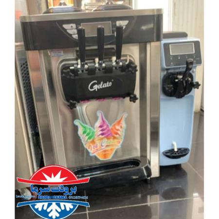 دستگاه بستنی ساز قیفی 3 قیفه رو میزی ژلاتو