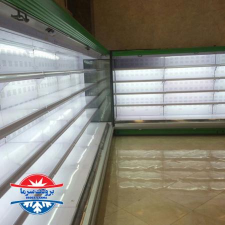 یخچال بدون درب ایستاده پرده هوا