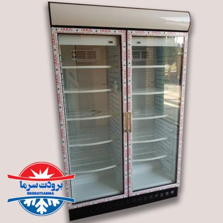 یخچال دو درب ایستاده سوپرمارکتی ۱۲۰ سانتی
