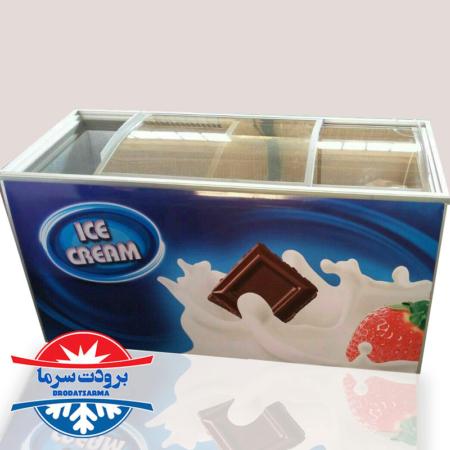 فریزر صندوقی حجم 500 لیتری بستنی و مواد غذایی