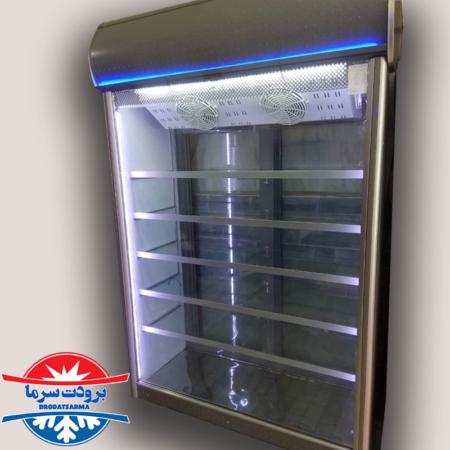 یخچال ویترینی لبنیاتی ایستاده دو درب