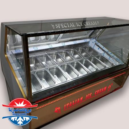 تاپینگ بستنی صنعتی ۱۶ لگن بدنه استنلس استیل