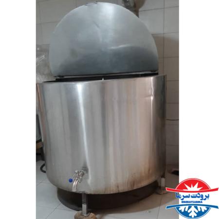 پاتیل پخت شیر 300 لیتری لبنیاتی و دامداری