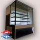 یخچال ویترینی مکعبی قنادی شیشه ساده یا دودی