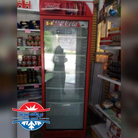 یخچال ایستاده تک درب ارسالی مشتری ایلام