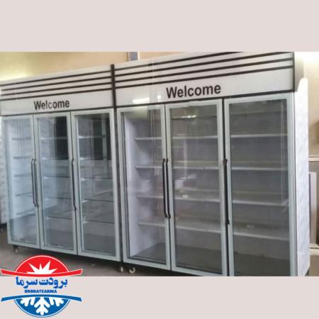 یخچال سه درب فروشگاهی طول ۲۰۰ سانتی