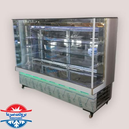 یخچال مکعبی لبنیاتی ویترینی بدنه استیل