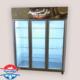 یخچال مخصوص گل فروشی سه درب شیشه ای