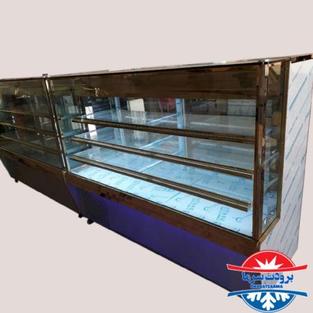 یخچال ایستاده نما شیشه ای مخصوص کبابی