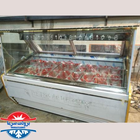 یخچال تاپینگ بستنی میوه ای صنعتی 20 بنماری