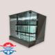 یخچال شو کیک مکعبی آکواریومی شیشه ای
