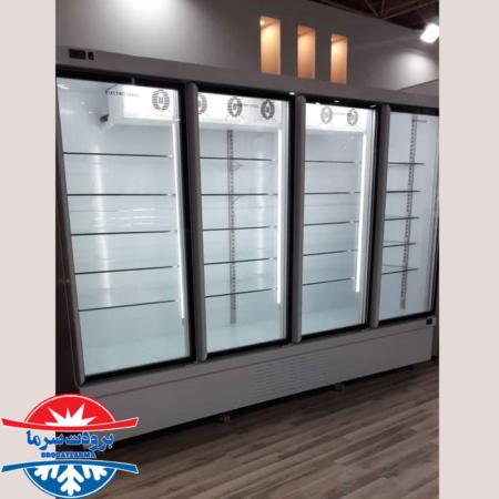 یخچال درب دار ایستاده نوفراست شیشه ای