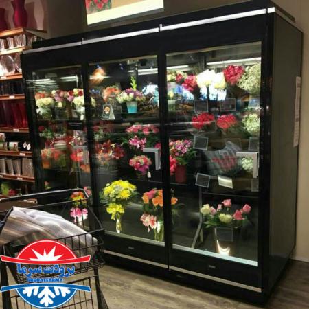 یخچال سه درب مخصوص گل فروشی بدنه استیل