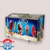 فریزر صندوقی بستنی سایز کوچک بدنه گالوانیزه