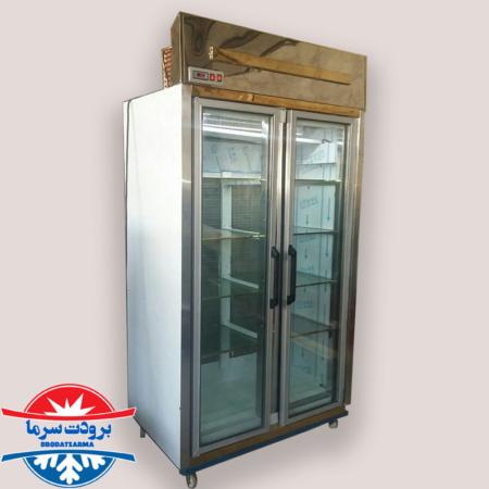 یخچال دو درب ایستاده دارای روشنایی LED