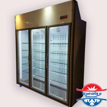 قیمت فروش یخچال ویترینی ایستاده سه درب