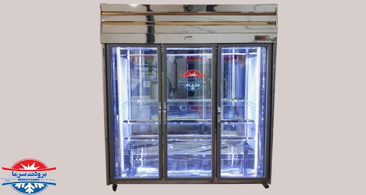 ابعاد یخچال ایستاده صنعتی
